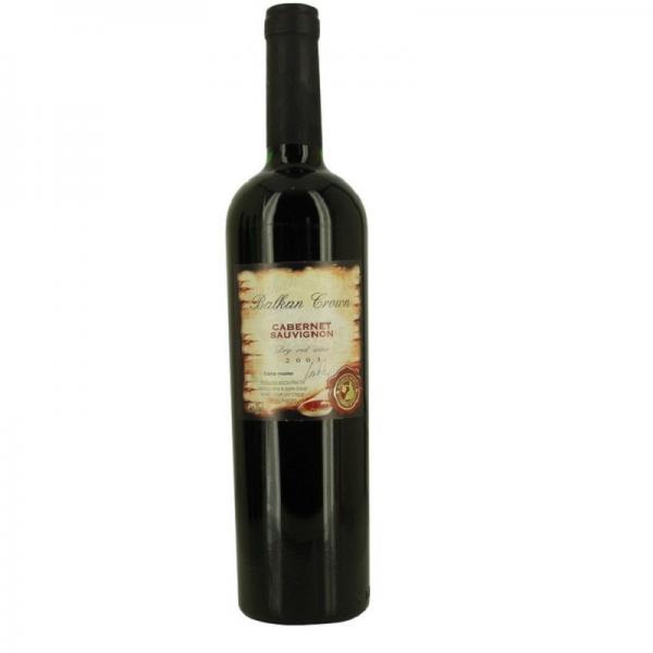 Balkan Crown Cabernet Sauvignon 0,75 l - červené suché víno
