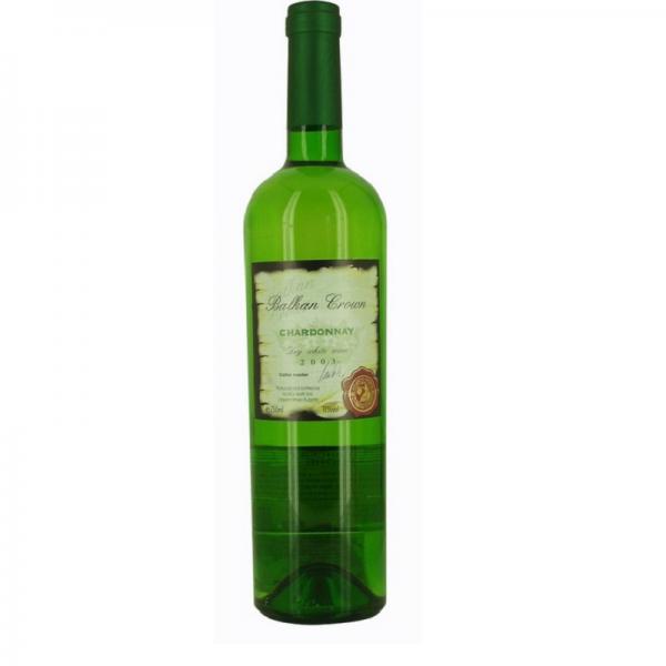 Balkan Crown Chardonnay 0,75 l - biele suché víno