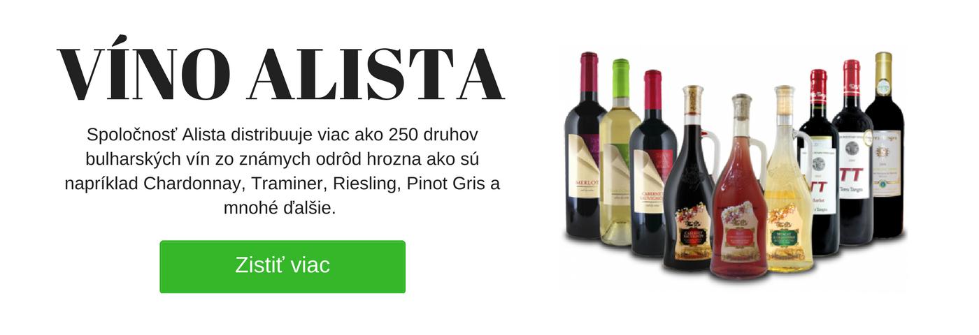 Bulharské vína - vína Alista