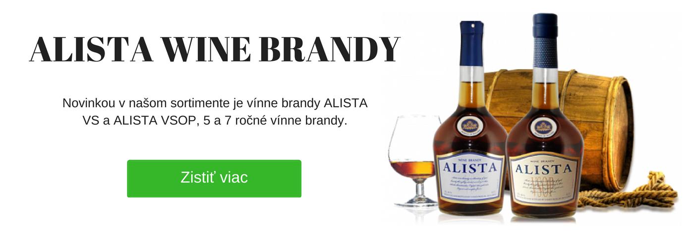 Vínne brandy - brandy Alista