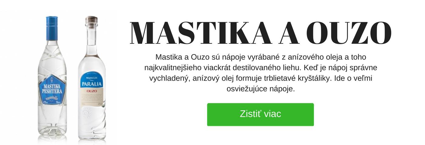 Mastika a ouzo - Alista