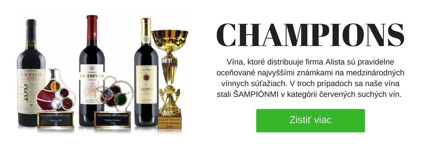 Naši šampióni - červené vína - Alista