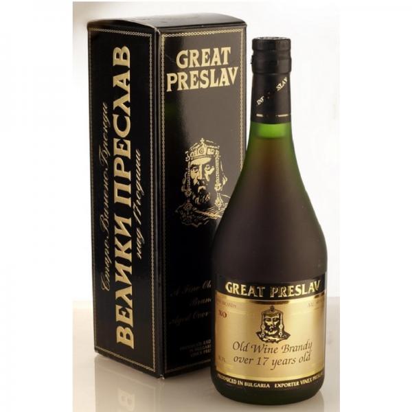 Brandy Great Preslav 0,7 l 40% 17 r. kr.