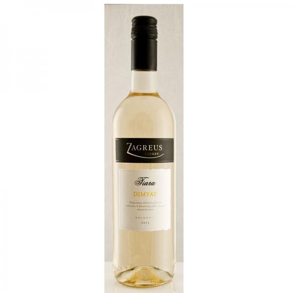 Tiara Dimyat 0,75 l - biele suché víno