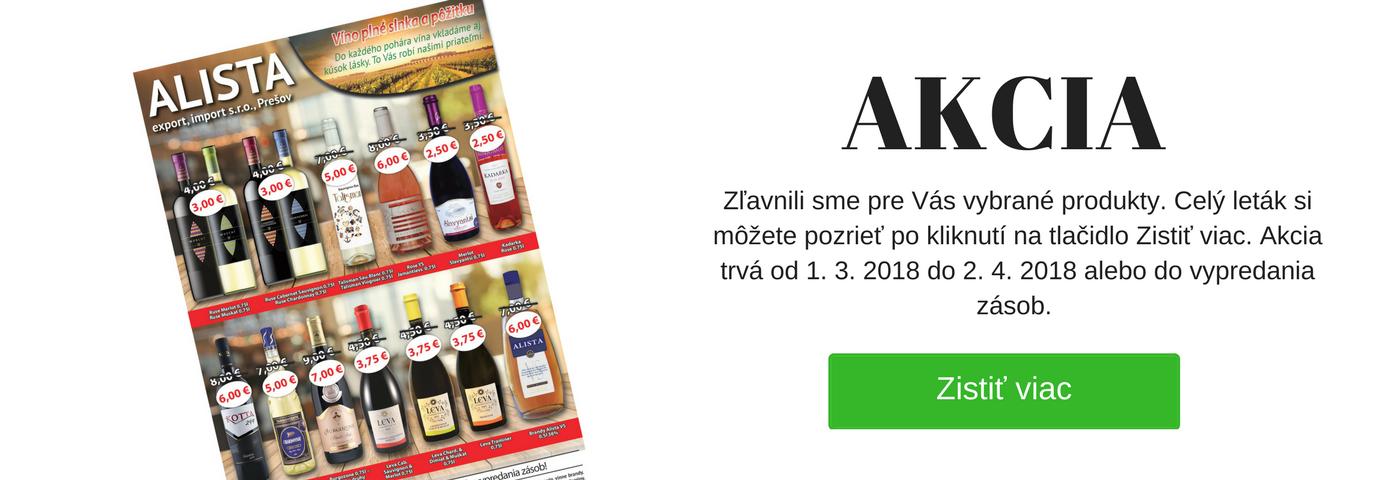 Akciová ponuka - vína Alista