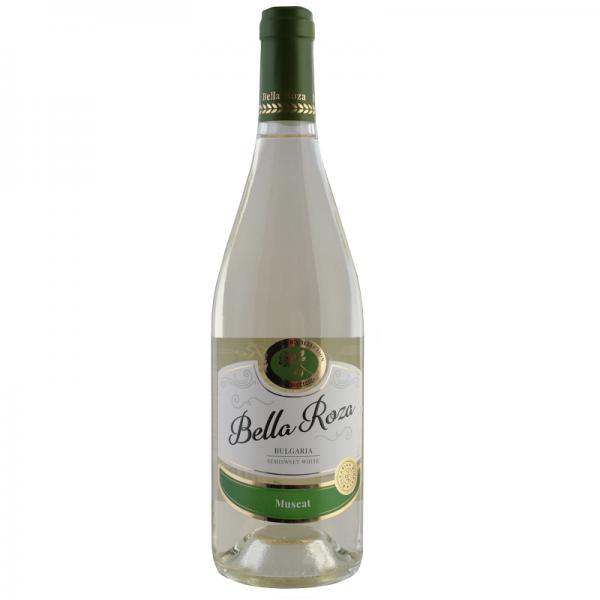 Bella Roza Muškat 0,75 l - biele polosladké víno